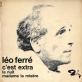 Léo Ferré - C'est extra Piano Sheet Music