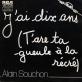 Partition piano J'ai dix ans de Alain Souchon