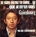 Partition piano Je suis venu te dire que je m'en vais de Serge Gainsbourg