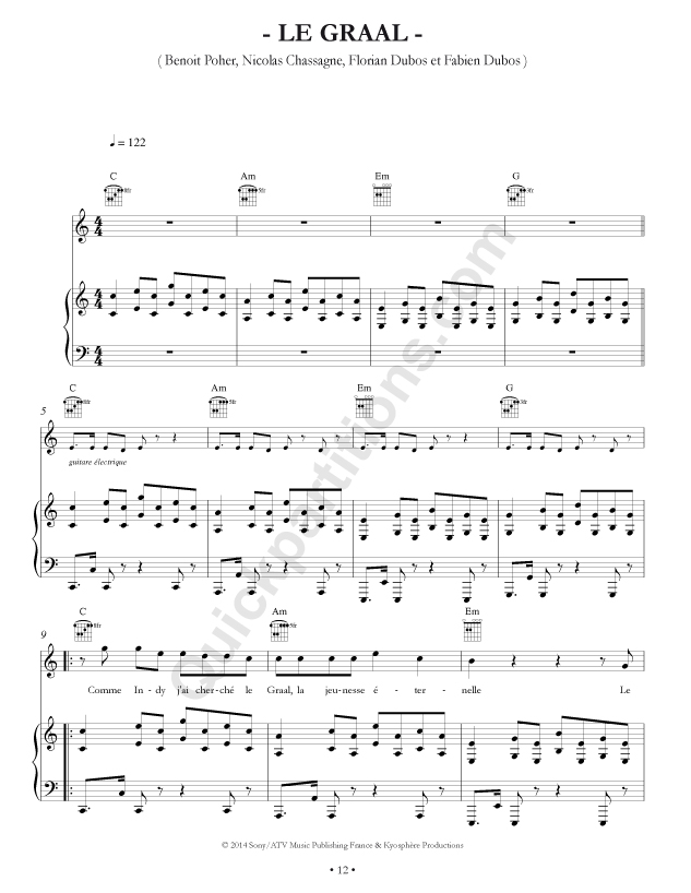 partition guitare kyo