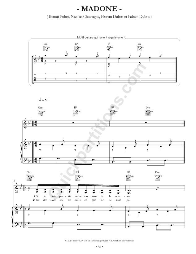 partition piano gratuite kyo le graal