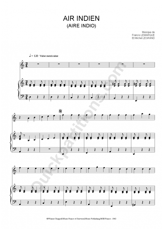 partition musique indienne