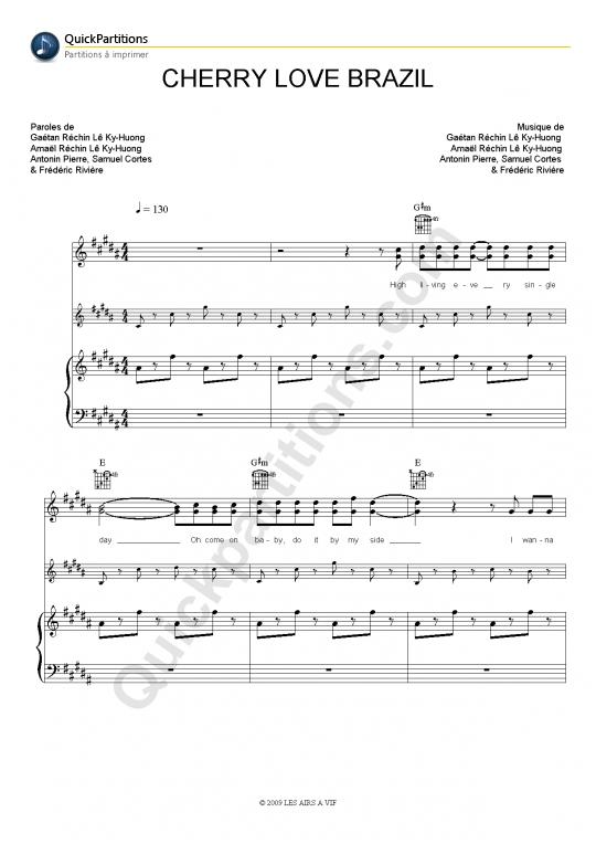 Cherry Love Brazil Piano Sheet Music - Pony Pony Run Run