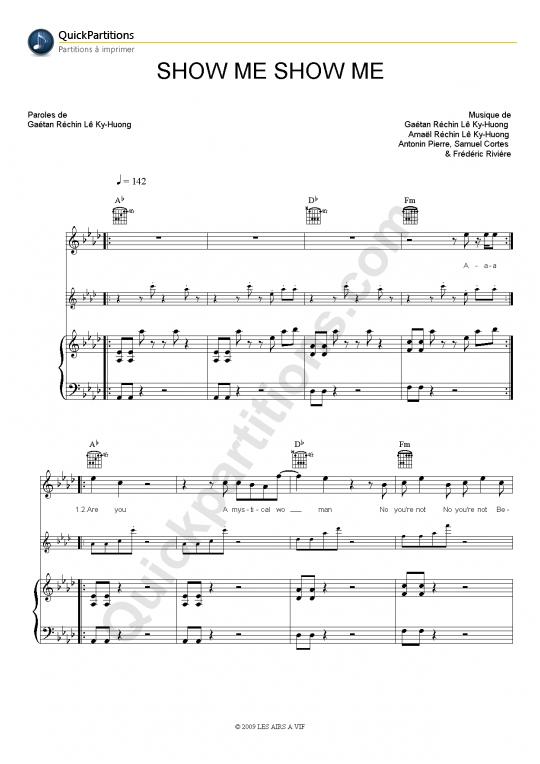 Show Me Show Me Piano Sheet Music - Pony Pony Run Run
