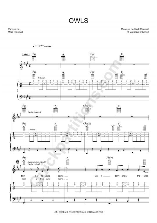 partition guitare musique de film