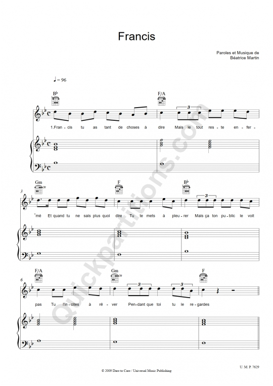 Download Coeur de pirate Digital Sheet Music and Tabs
