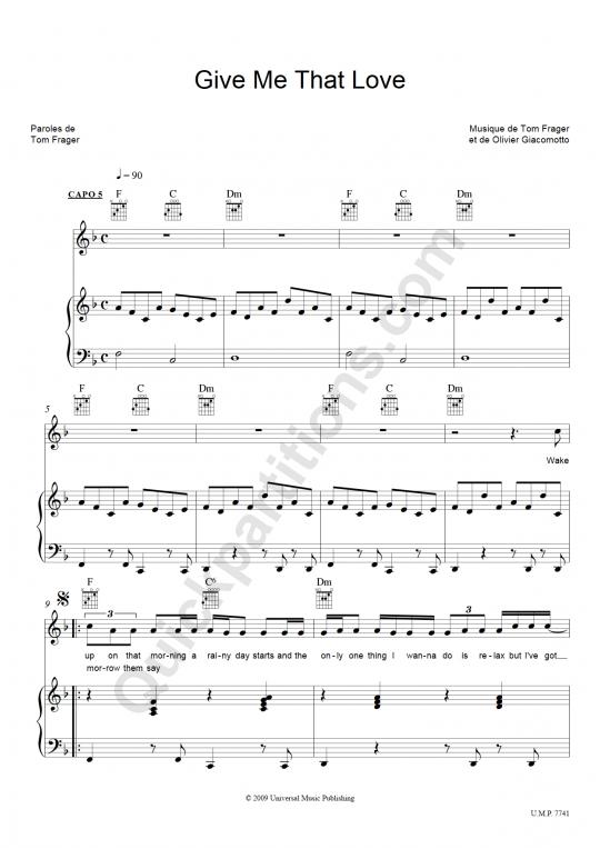 partition guitare piano