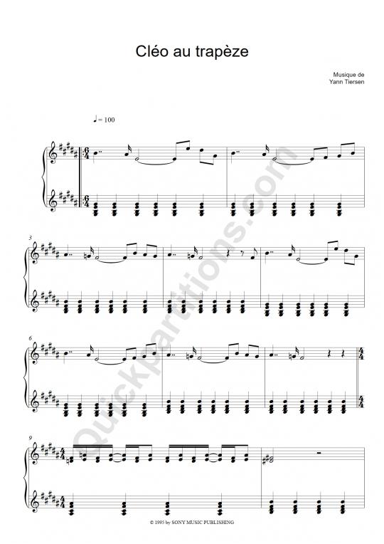 partition accordeon yann tiersen