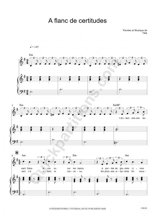 partition piano a la faveur de l automne