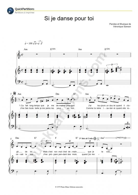 chanson sur ma drole de vie partition pdf
