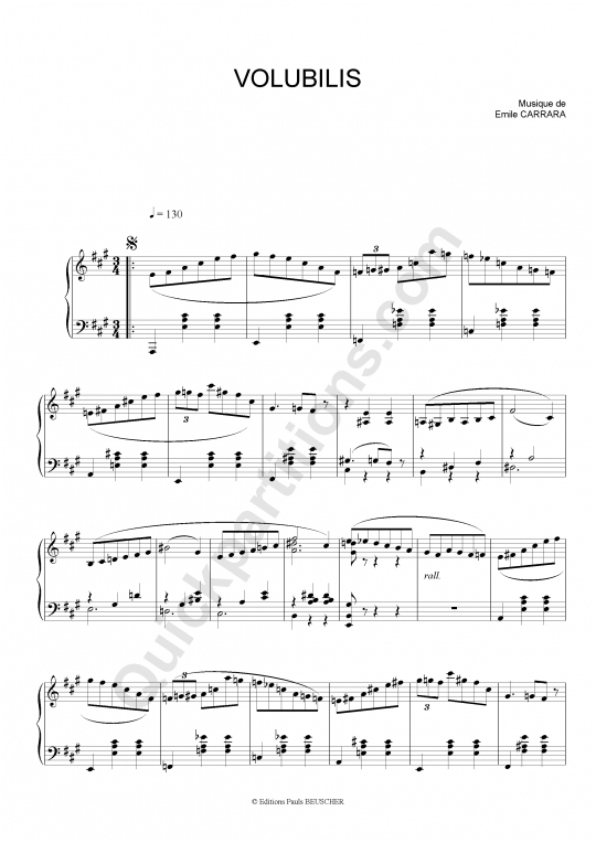 Partition accordéon Volubilis - Emile Carrara