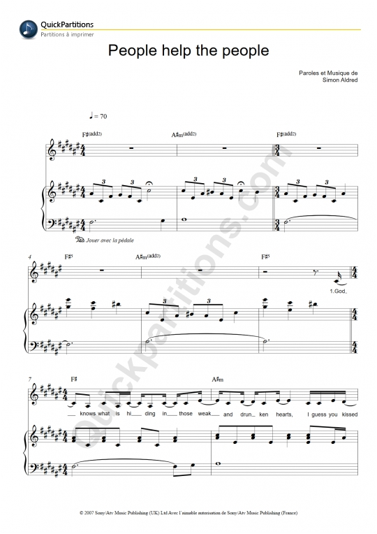 People Help The People Piano Sheet Music Birdy Digital Sheet Music