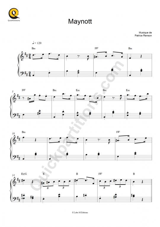 Maynott Piano Sheet Music - Un monstre à Paris