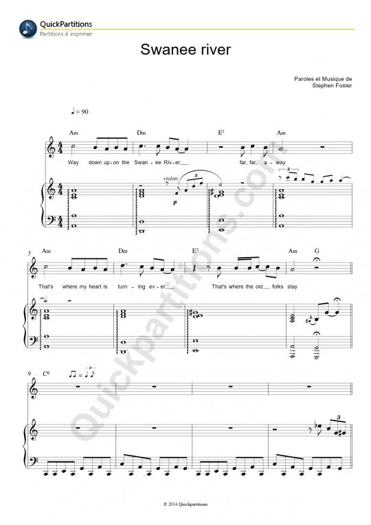 Swanee River Piano She...