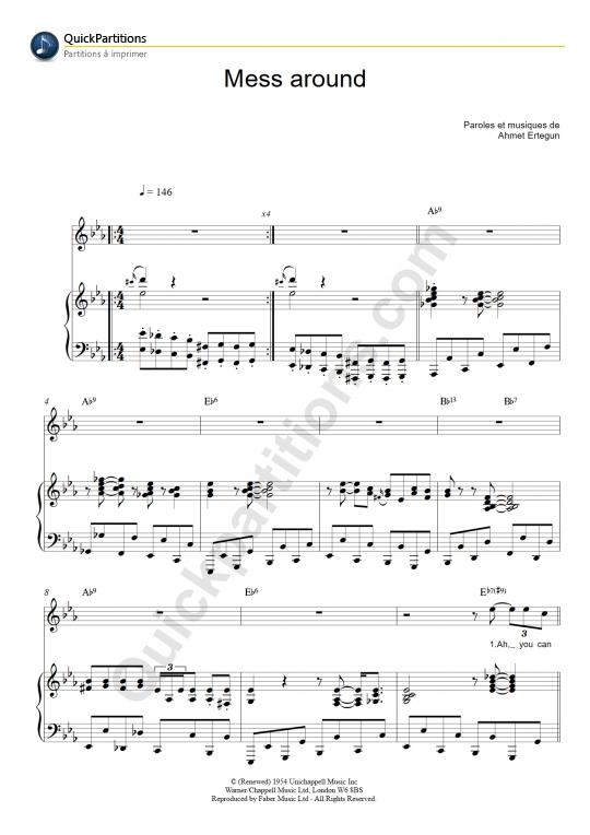 Mess Around Piano Sheet Music - Ray Charles