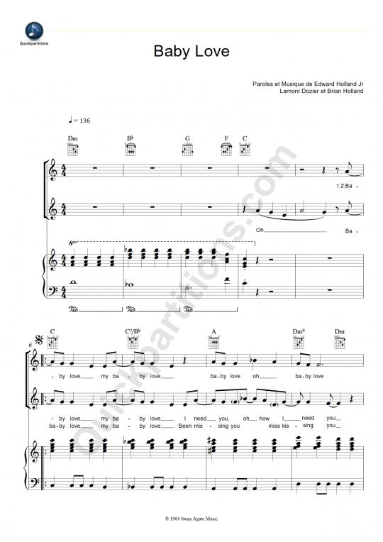 Baby Love Piano Sheet Music - The Supremes