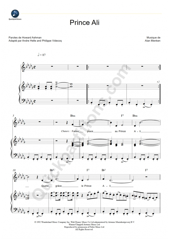 Prince Ali Piano Sheet Music Ibovnathandedecker