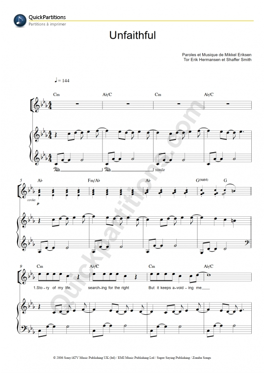 Download Digital Sheet Music Of Rihanna For Piano Vocal And Guitar
