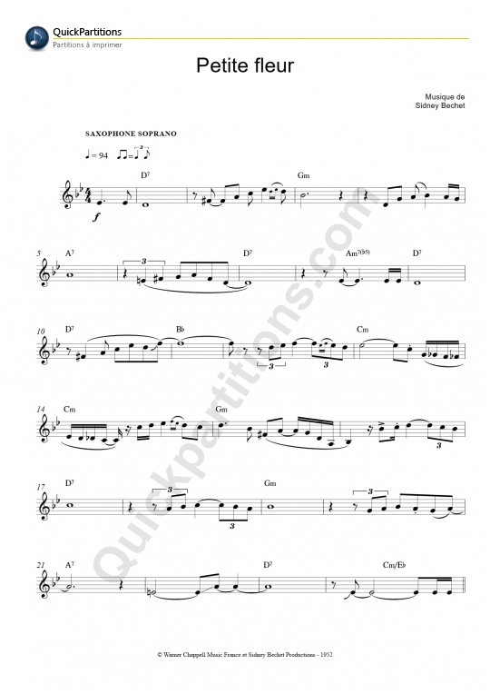 Buy Sidney Bechet Sheet Music Tablature Scores