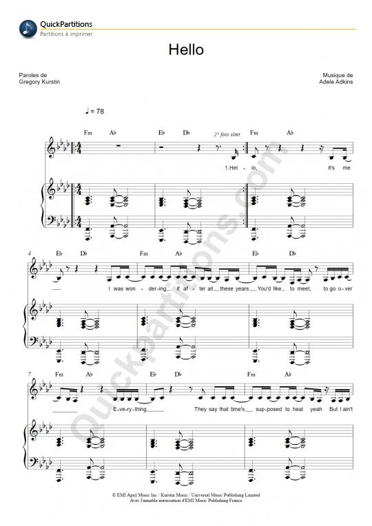 Hello Adele Piano Chords Related Keywords u0026amp; Suggestions - Hello Adele Piano Chords Long Tail ...