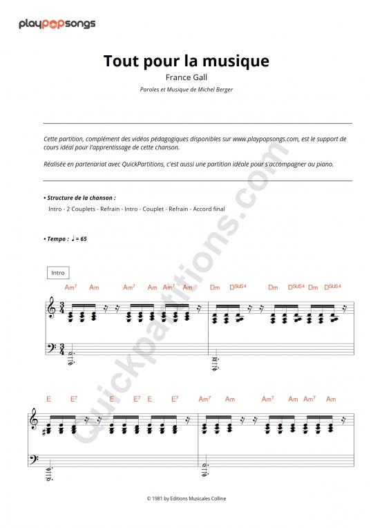 Support de cours Tout pour la musique - PlayPopSongs