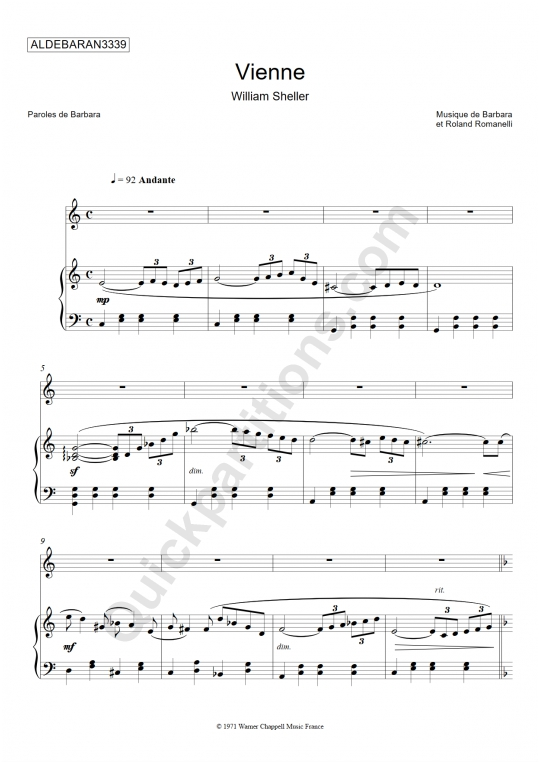 Vienne Piano Sheet Music - Aldebaran3339