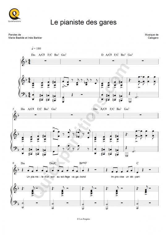 Le pianiste des gares Piano Sheet Music - Maëlle
