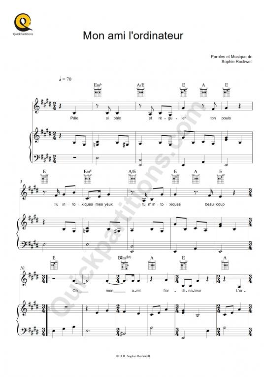 Partition piano Mon ami l'ordinateur - Sophie Rockwell