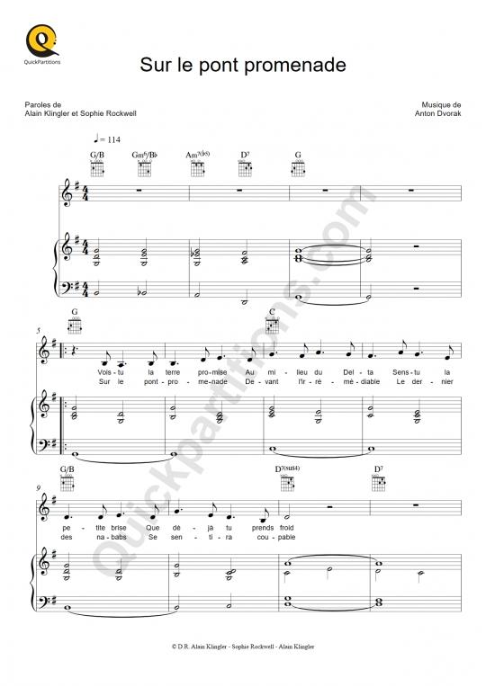 Partition piano Sur le pont promenade - Sophie Rockwell