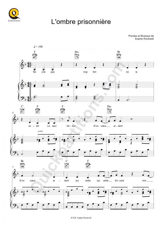 Partition piano L'ombre prisonnière - Sophie Rockwell