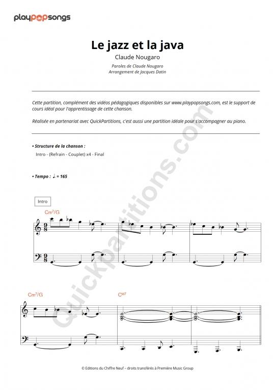 Support de cours Le jazz et la java - PlayPopSongs