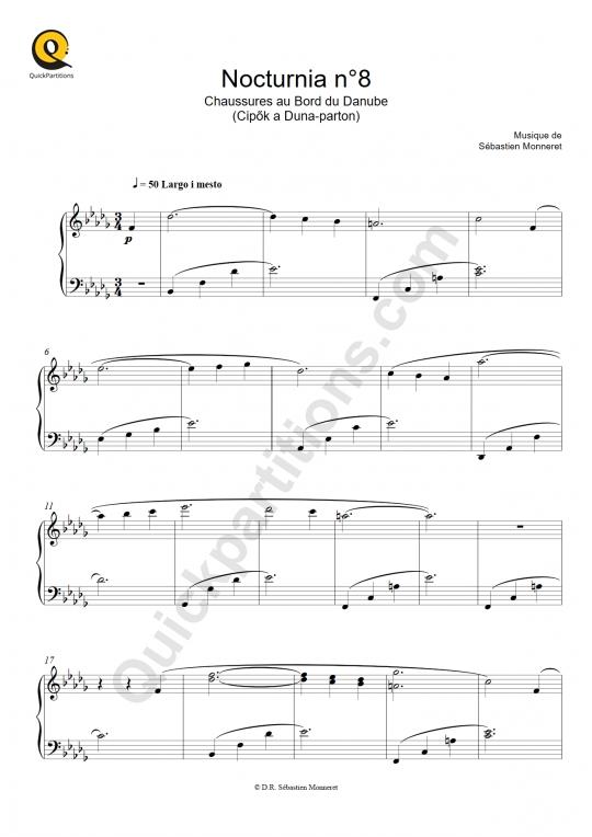 Partition piano Nocturnia n°08 - Sébastien MONNERET