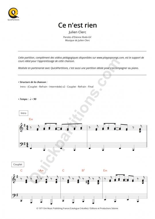 Partition piano Bad Boy - Yseult