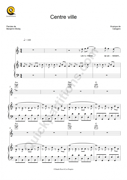 Partition piano Centre ville - Calogero