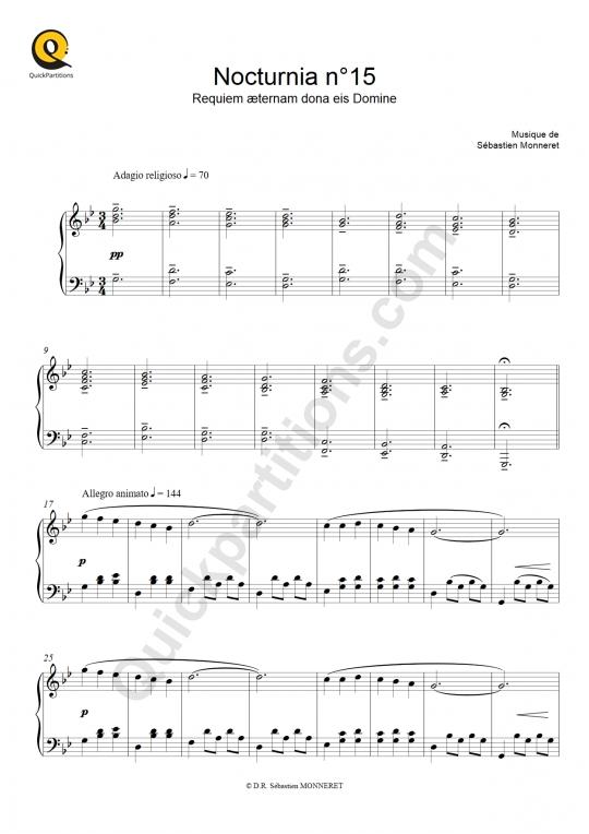 Partition piano Nocturnia n°15 - Sébastien MONNERET
