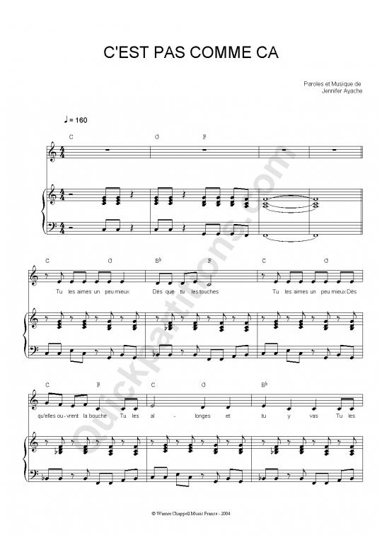Partition piano C'est pas comme ça - Superbus